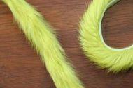 "1/4"" Magnum Rabbit Zonker Strips Golden Olive"