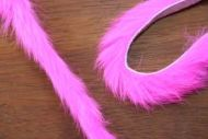 "1/4"" Magnum Rabbit Zonker Strips Flo. Pink"