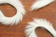 """1/8"""" Rabbit Zonker Strips Flesh/Off White"""