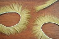 "1/8"" Rabbit Zonker Strips Brown Olive"