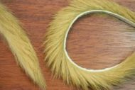"1/4"" Magnum Rabbit Zonker Strips Brown Olive"