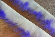 "1/8"" Crosscut Two Toned Rabbit Strips Violet/White"